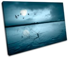 Moon Birds Sunset Seascape - 13-2215(00B)-SG32-LO